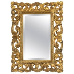 Rococo Beveled Mirror with Carved Giltwood Frame (H 22 1/2 x W 16 1/2)