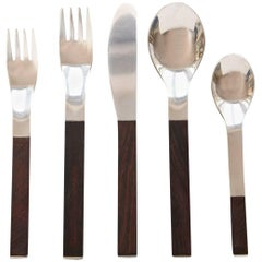 Rosewood Flatware Service for 12 by Carl Auböck for Rosenthal
