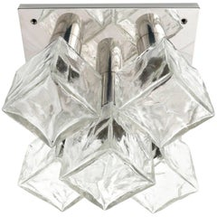 One of Six Modulare Square Kalmar 'Cubus' Flush Mount Lights or Sconces, 1970s