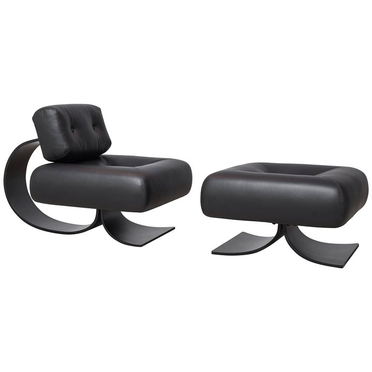 Alta Chair And Ottoman By Oscar Niemeyer For Sale At 1stdibs