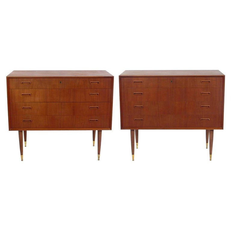 Pair of Danish Modern Chests  For Sale