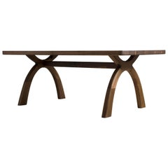 """Inyo"" Dining Table, Southwest-Style Arched Base, Solid Wood Dining Table"