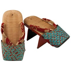 Early 20th Century, Taisho Period, Geta Sandals, Japan