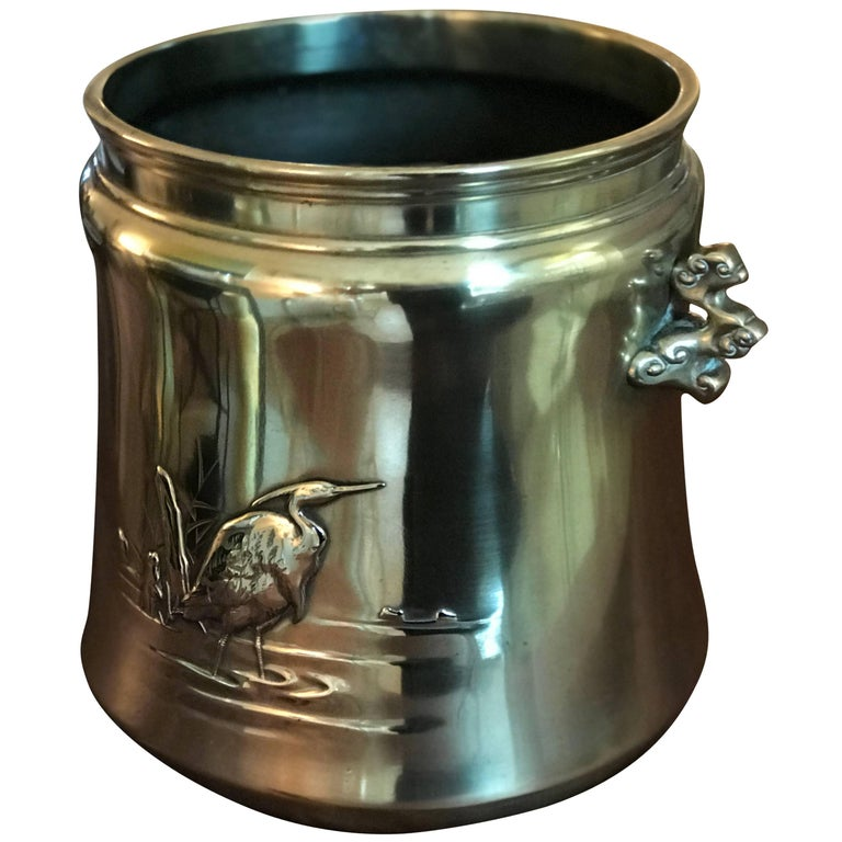 Hand Crafted Antique Polished Bronze Jardiniere For Sale