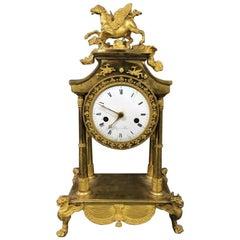 Period Directoire Ormolu Clock in Form of Rare Pegasus