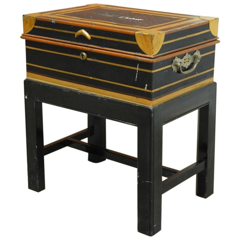 British Colonial Military Officer's Campaign Metal Field Desk  For Sale