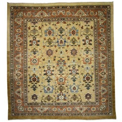 Vintage Persian Sultanabad Rug with Traditional Modern Style