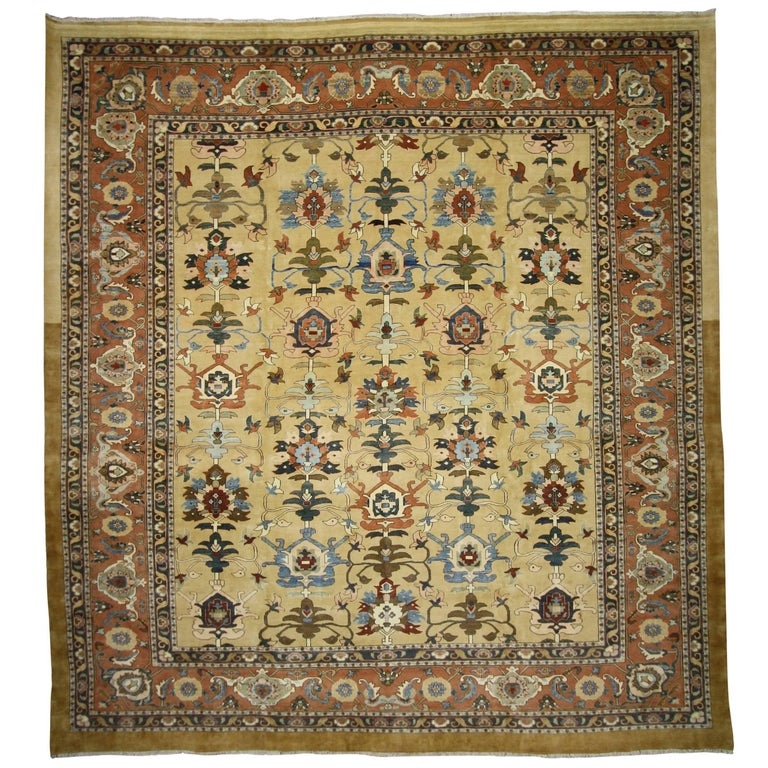 Vintage Persian Sultanabad Rug With Traditional Modern