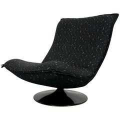 Black Artifort Tulip-Easy Chair / Lounge Chair, Geoffrey D. Harcourt 1970s-1980s
