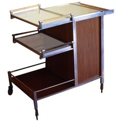 Dry Bar Service Cart by Jacques Adnet