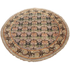 Round William Morris Style Rug