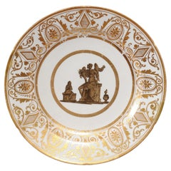 Early 19th Century English London Decorated Coalport Plate