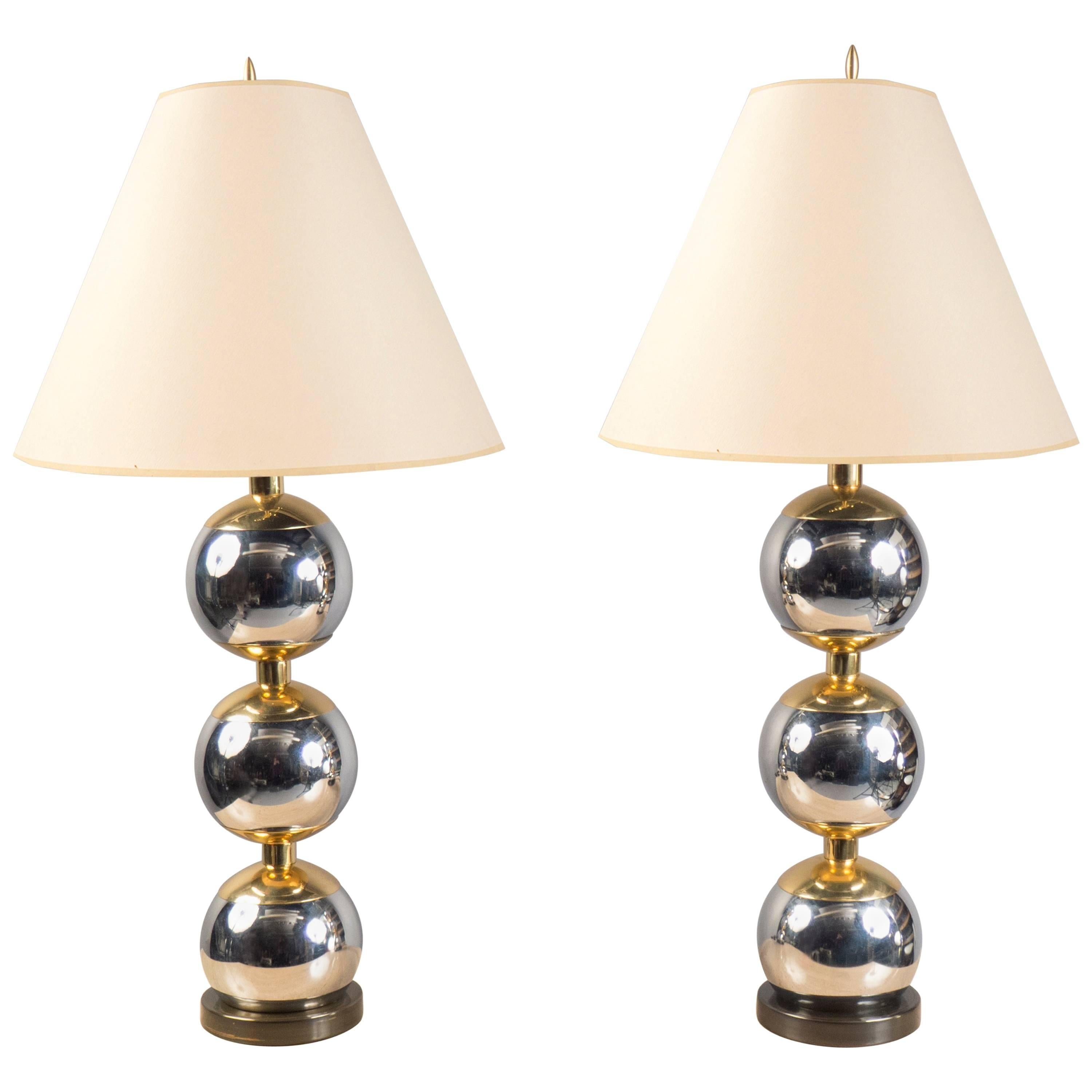 Pair of Lamps, France, 1970s