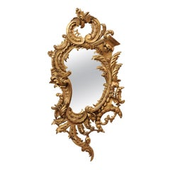 Mid-19th Century Italian Giltwood Rococo Style Mirror