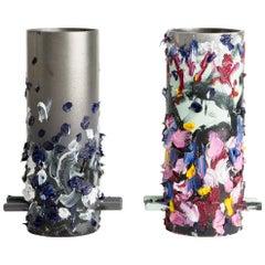 Hand-Painted Steel Cylinders by Eddie Granger