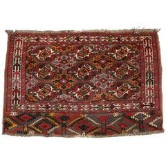 Antique Persian Bokhara Tekke Mat Bag Face, Early 20th Century