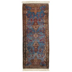Antique Silk Kashan Rug