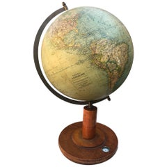 1900s Russian World Globe Dioram