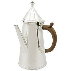 Antique 1910s Sterling Silver Coffee Pot