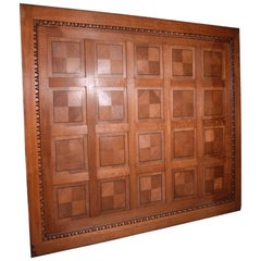 Inlaid Antique Boiserie/Paneling/Wainscoting in Oak Wood