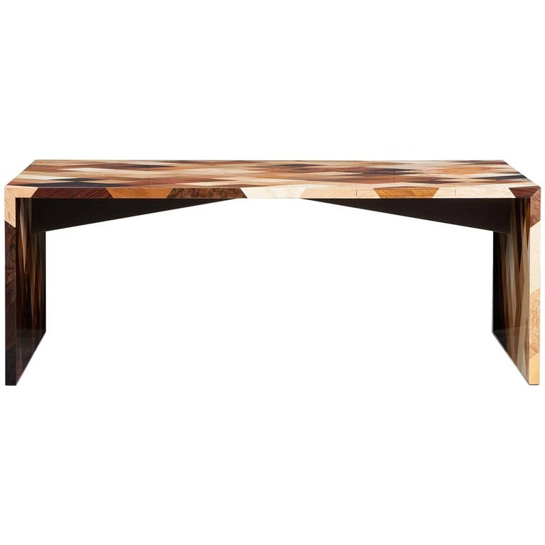 Contemporary Brown Wooden Desk by Johannes Hock 'd'