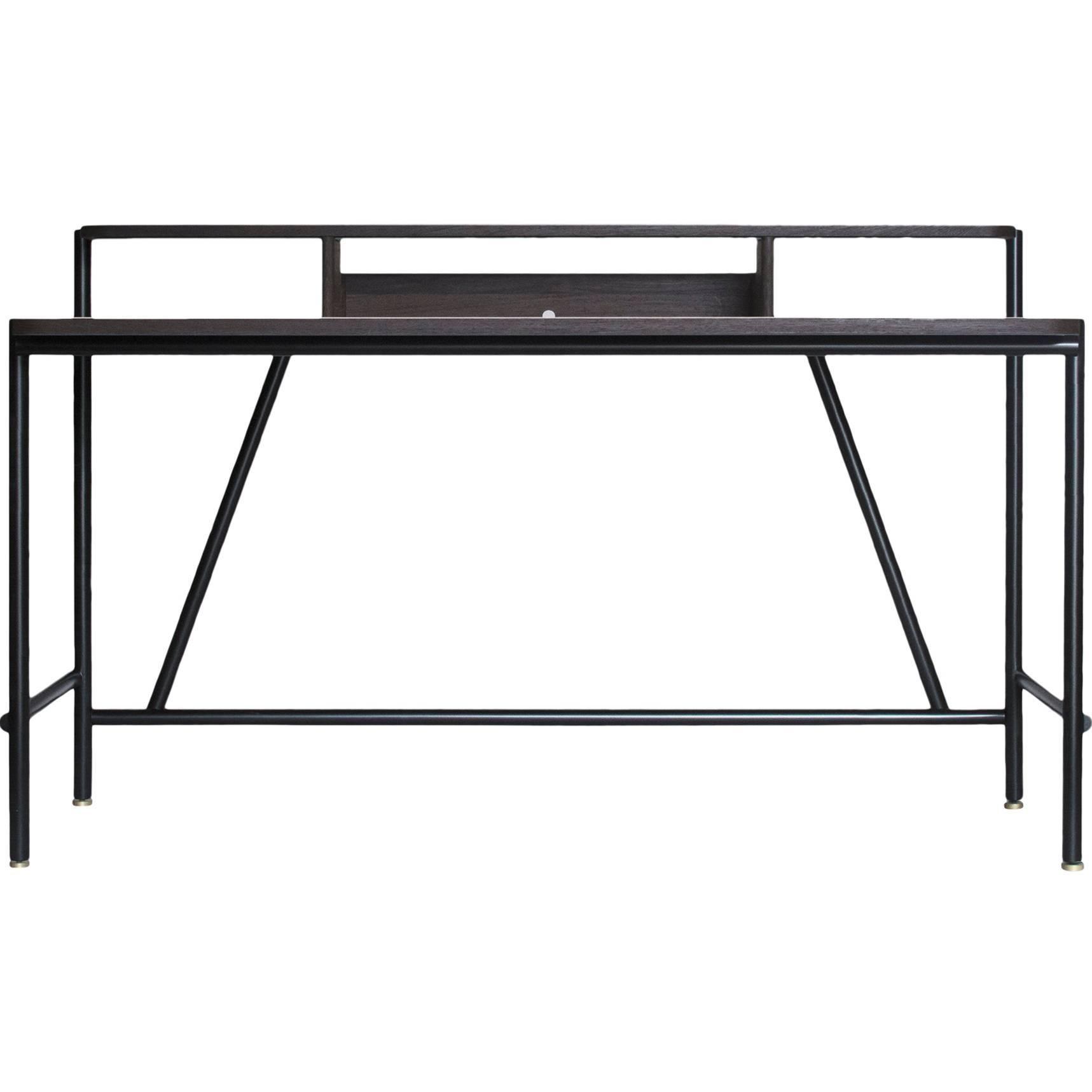 EM Desk by DUVALD Contemporary Vanity Desk Handcrafted in Denmark. Mirror.