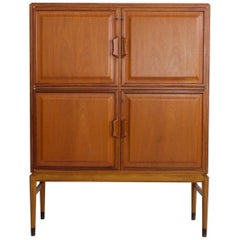 Axel Larsson Mahogany Scandinavian Cabinet with Four Frontal Doors by Bodafors