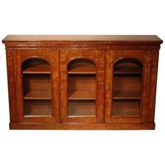 19th Century Three-Door Mahogany Bookcase