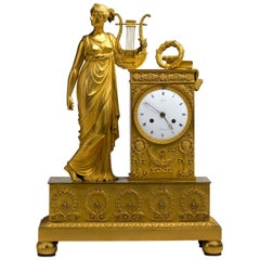 French Gilt Bronze Table Clock, Lepine, France, Early 19th Century