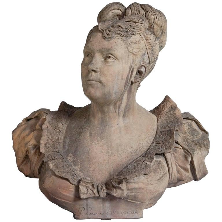 19th Century Terracotta Bust by Paul Lecreux