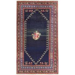 Regal Blue Antique Caucasian Karabagh Carpet, circa 1900