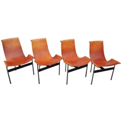 Set of Four T Side Chairs, Katavolos, Littel & Kelley for Laverne International
