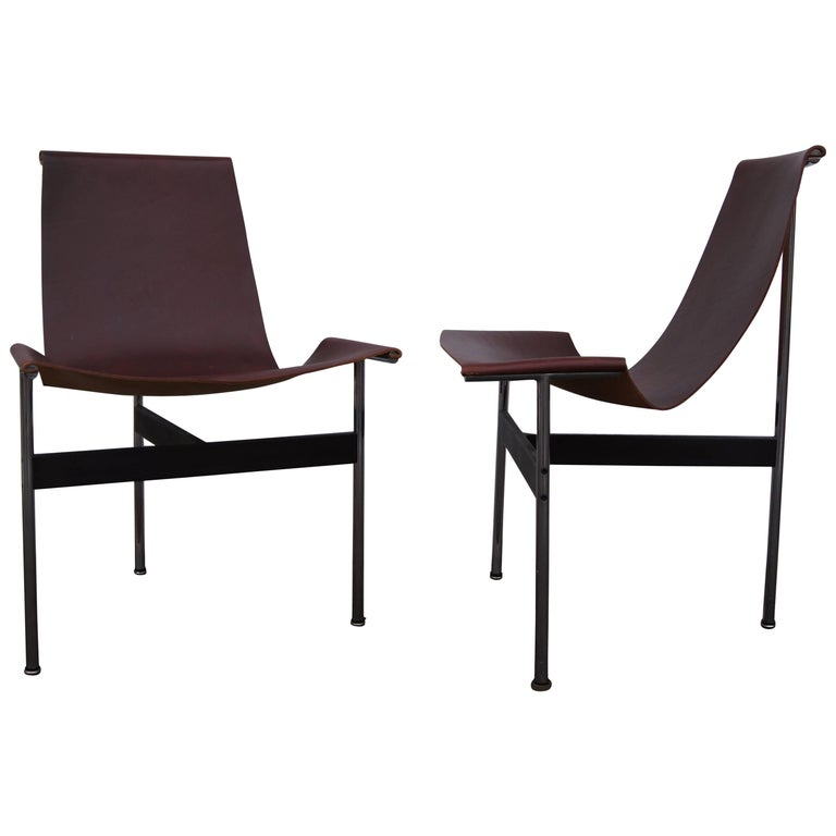 Pair of T Side Chairs by Katavolos, Littell & Kelley for Laverne International For Sale