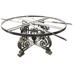 Large Custom Crafted French Design Polished Iron Centre Table