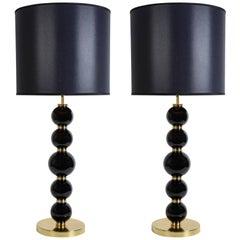 Very Chic Pair of Murano Glass Lamps
