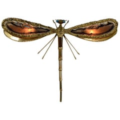 Rare Butterfly Wall Light by Henri Fernandez