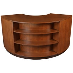 Rare Crescent Desk by Gilbert Rohde for Brown Saltman