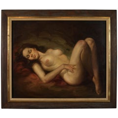 "Oil Painting of Female Nude by Angel Martin: ""Amanecer (Dawn)"""