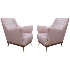 Pair of Mid-Century Modern Italian Club Chairs