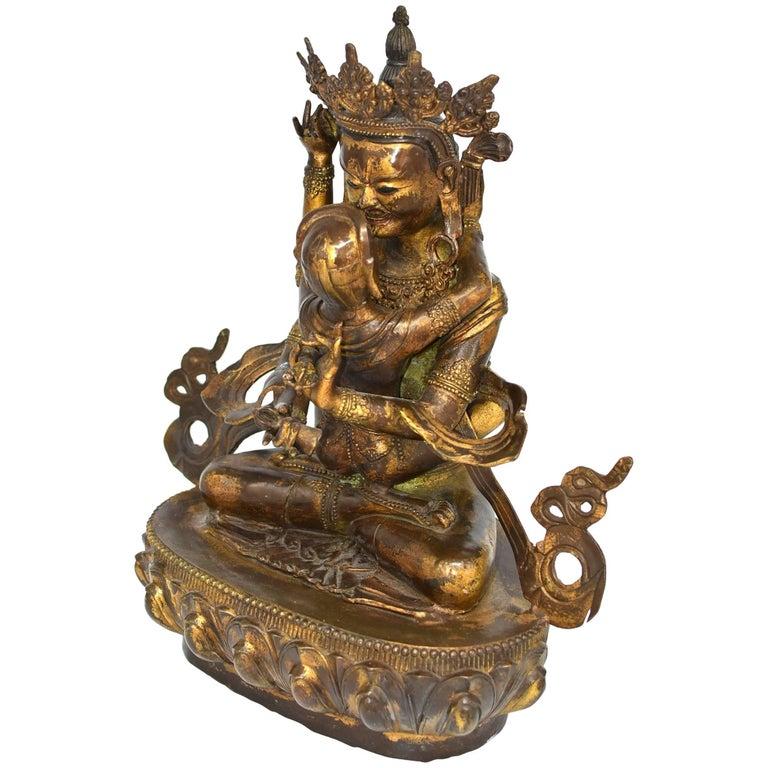 Bronze Tibetan Double Buddha Statue Vajrasattva Yab Yum