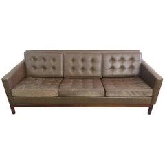 Knoll Leather Sofa