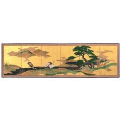 Gold Leaf Japanese Screen