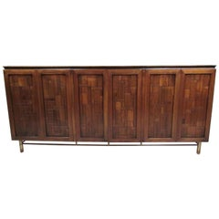 Vintage Travertine Top Sideboard by Bert England for Johnson Bros