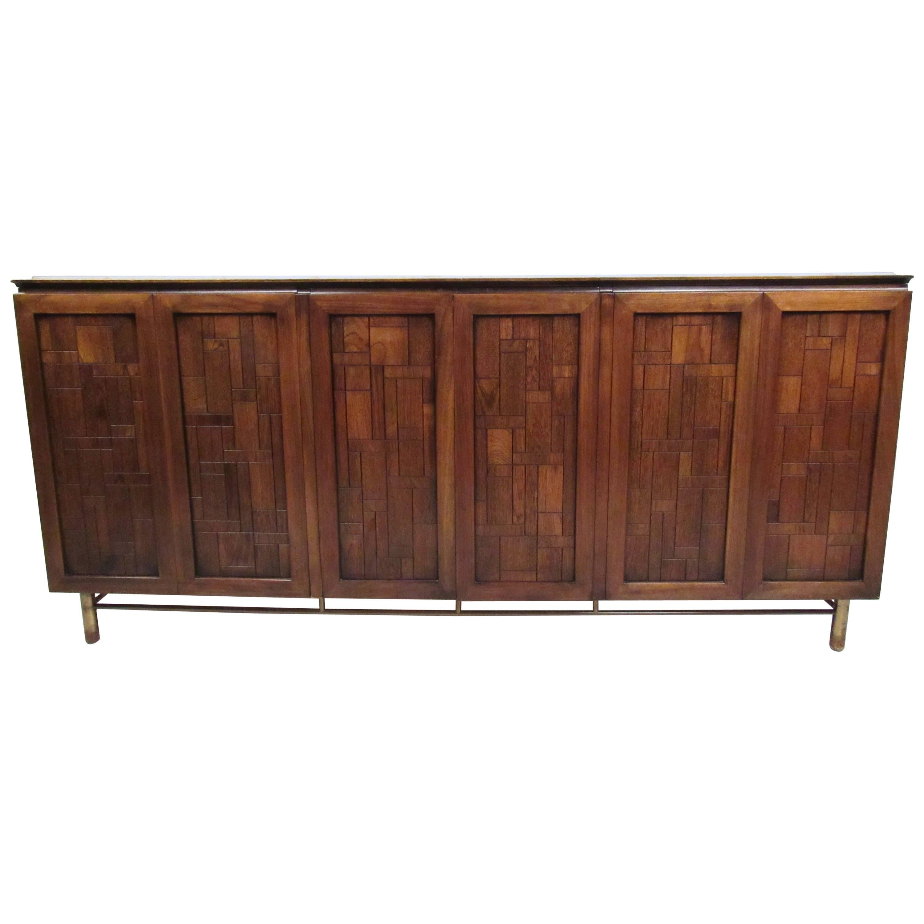 Perfect Vintage Modern Travertine Top Sideboard By Bert England For Johnson  Bros With Bro Sideboard