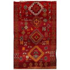 Vintage 1940s Red/Orange Moroccan Rug