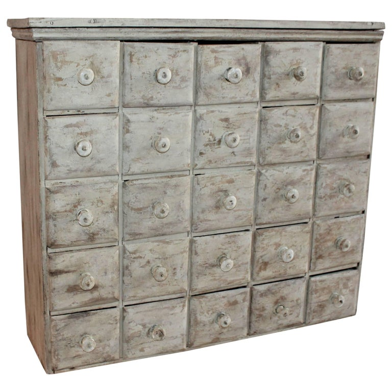 Apothecary Cabinet 19th Century with 25 Drawers