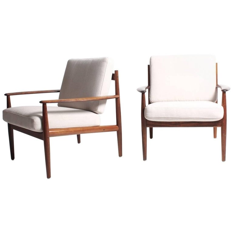 Pair of Lounge Chairs in Rosewood by Grete Jalk