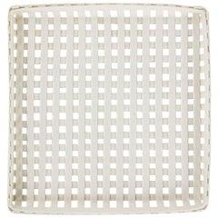 Rare Enzo Mari Woven Porcelain Tray for Danese