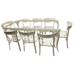 Klismos Patio Set for Eight, in the Style of Billy Haines, Restored
