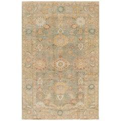 21st Century Green/Cream Persian Carpet